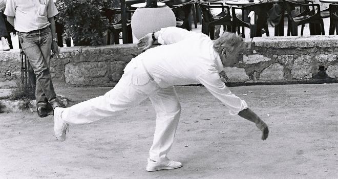 Yves Montand Août 1986 Saint Paul de Vence